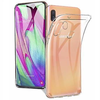 Hoesje Coolskin3T voor Samsung A40 Transparant Wit