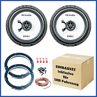 Loudspeaker installation set suitable for Mercedes C-Class W202 rear shelf