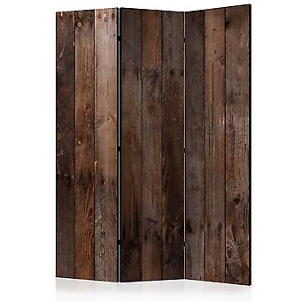 3-teiliges Paravent - Wooden Hut [Room Dividers]