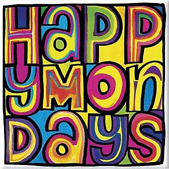 Happy Mondays Fridge Magnet Dayglo band Logo new Official 76mm x 76mm