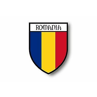 Sticker klistermærke klistermærke motorcykel bil Blason by flag Rumænsk Rumænien