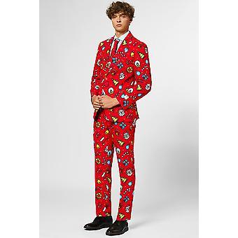 Dapper Decorator Christmas Suit Costume Christmas Suit Slimline Homme 3-Piece Premium