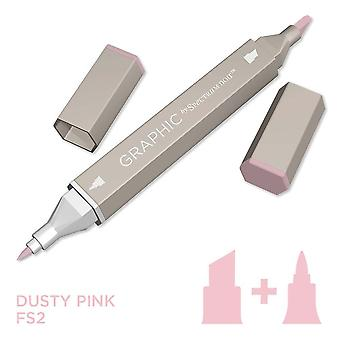 Graafinen spektri Noir Single pens-Dusty Pink