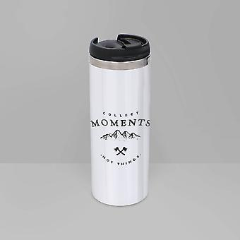 Collect Moments Stainless Steel Travel Mug - Metallic Finish