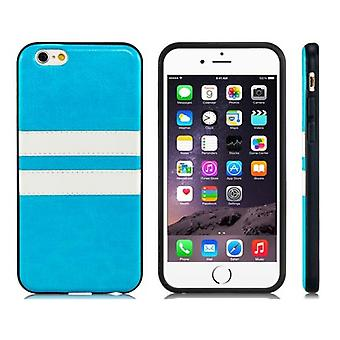 Iphone 6 / 6S 4.7 rubber stripes soft case shell blue