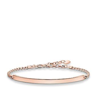 Thomas Sabo Love Bridge Thomas Sabo Gold Plated Rose Gold Bracelet LBA0008-415-12