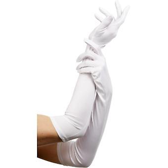 Luvas brancas longas