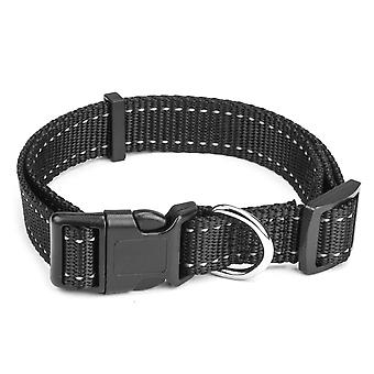 Medium Black Adjustable Reflective Collar