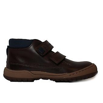 Startrite Flexy Smart Pre Brown Pelle Boys Rip Tape Stivali alla caviglia