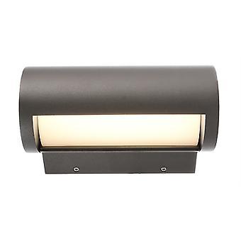 LED wand bouw lamp Segin 13W 3000K 223x1300mm donkergrijs draaibaar IP65