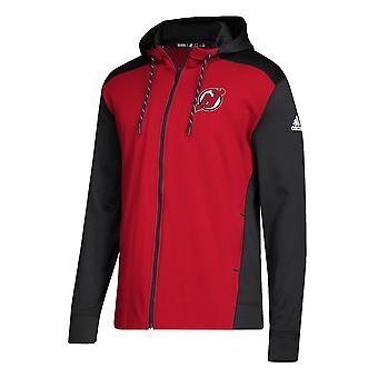 Adidas НХЛ Нью-Джерси Девилс полный Zip Гуд