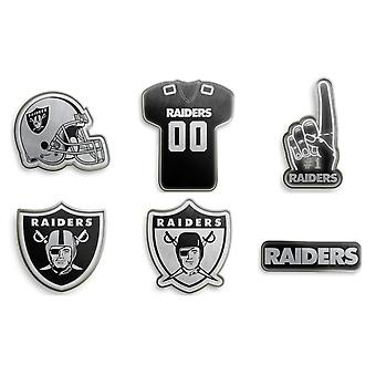 Oakland Raiders NFL Pin Badge Pin Set of 6