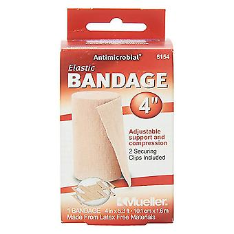 Mueller sports medicine care elastic bandage with clips, 4 inch, 1 ea