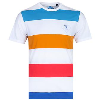 Barbour Beacon Rydal Striped White T-Shirt