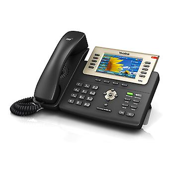 6 Line Colour IP Telefon 2xGbE/USB/PoE