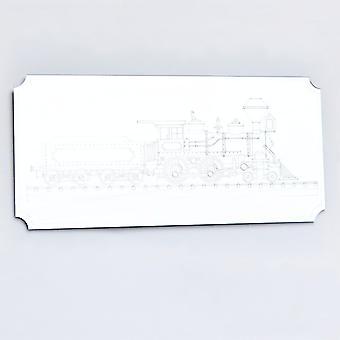 Steam Train Rectangle Acrylic Mirror