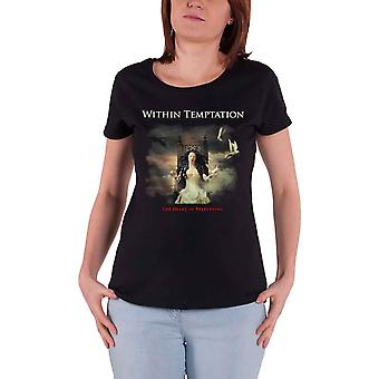 Within Temptation T Shirt Heart Of Everything Official Womens Skinny Fit Black