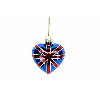 Gisela Graham Union Jack Heart Bauble - Gifts From Handpicked