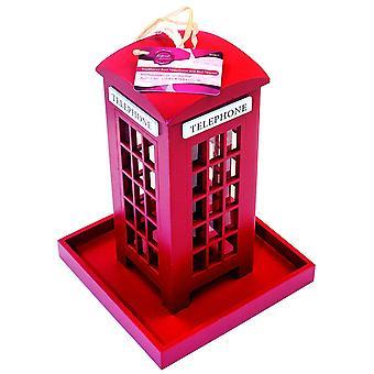 Новизна подарок висит Лондон красный телефон сад кормушку для птиц семян ореха фидер