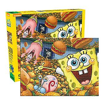 Spongebob squarepants - cast 500pc puzzle