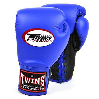 Twins special lace-up boxing gloves - blue