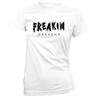 Womens Sweatshirts Hooded Hoodie- Freakin Weekend