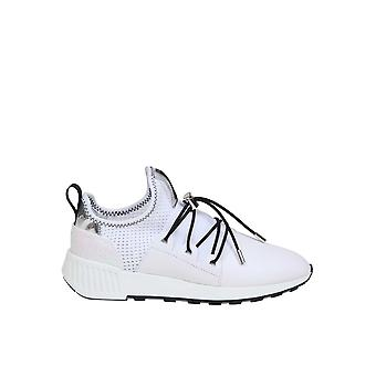 Sergio Rossi A89420mfn8869000 Femmes-apos;s White Fabric Slip On Sneakers
