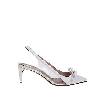 Red Valentino Tq2s0c04sia031 Women's White Leather Sandals