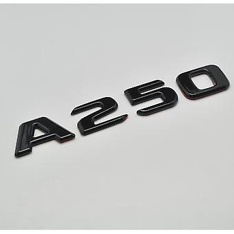 Gloss Noir A250 Flat Mercedes Benz Modèle de voiture Arrière Boot Number Letter Sticker Autocollant Autocollant Badge Emblem pour une classe W176 W177 AMG