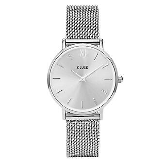 Cluse Watches Cl30023 Minuit Full Silver Mesh Ladies Watch
