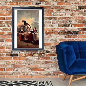 Francisco de Goya - crianças jogando Poster Print Giclée