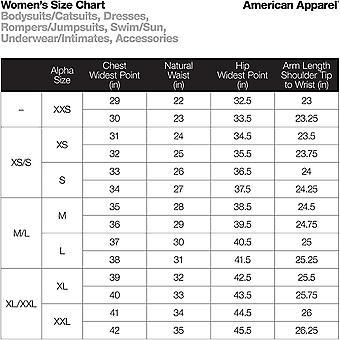 American Apparel Women's Mix Modal Long Sleeve Drape, Black, Size Medium
