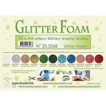 LeCrea - Glitter foam 10 sht A4 - Green 25.5268