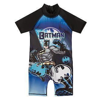 DC Comics Batman Superman Official Gift Toddler Boys Kids Swim Surf Suit