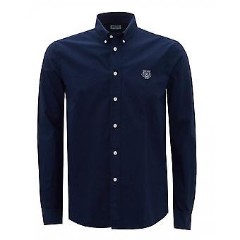 Kenzo Tiger Logo Cotton Navy Shirt