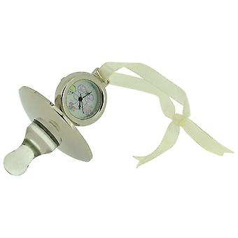 Miniature Baby Pacifier-Dummy Chrome Plated Novelty Collectors Clock BD1S