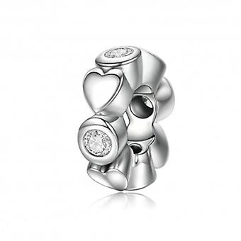Sterling Silver Spacer Deep Love - 5893