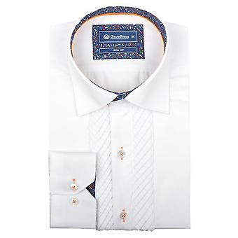 Oscar Banks Mens Pleated Front Evening Dress Shirt