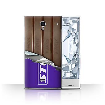 STUFF4 Case/Cover for Sharp Aquos Crystal/306SH/Wrapped Fingers/Sticks/Chocolate