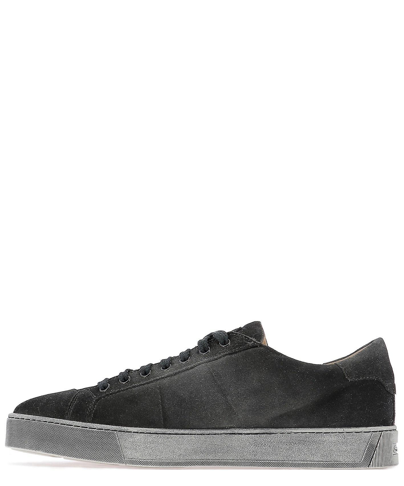 Baskets Santoni Mbgl20850sp0mpshg60 Hommes-apos;s Grey Suede Sneakers