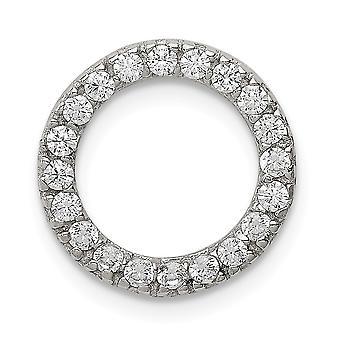 925 Sterling Silber poliert CZ Zirkonia simuliert Diamant Runde Anhänger Halskette Schmuck Geschenke für Frauen
