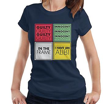 Hasbro Cluedo Guilty Or Innocent Women's T-Shirt