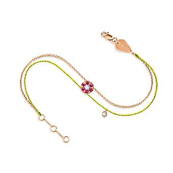 Bracelet Duchess Couture Full Ruby Stone and 18K Gold - Rose Gold, NeonYellow