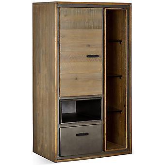 Furnhouse Malaga Wall Cabinet, Solid Acacia, 1 drawer/3 shelves, 55x35x100 cm