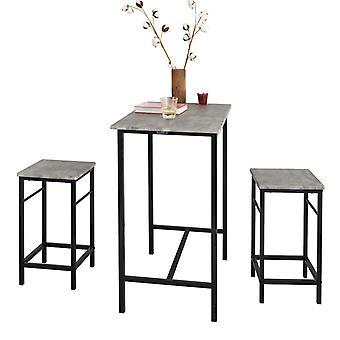 SoBuy Bar Set-1 Bar Tisch und 2 Hocker, Haus Küche Frühstück Bar Set, OGT10-HG