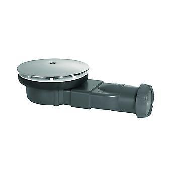 Chrome Dome DN40 Slim Shower Drain Waste Trap Super Flat Cup-Connection 24l/min