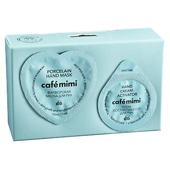 Cafe Mimi Porcelain Hand Mask + Activating Cream 20 ml+5 ml