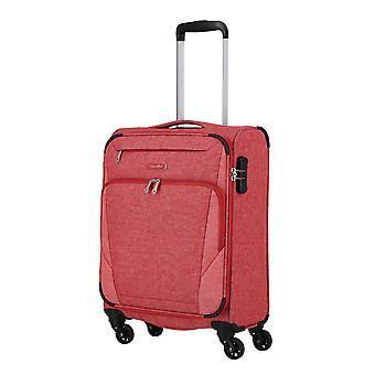 travelite Jakku Handbagage Trolley S, 4 hjul, 54 cm, 33 L, röd