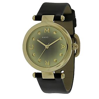 Marc Jacobs MJ1409  Female Black Leather 34MM Quartz Analog Watch