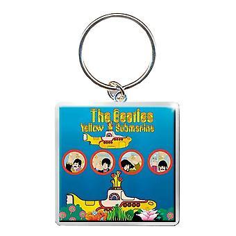 מחזיק מפתחות הביטלס הצוללת הצהובה החורים הרשמי מטאל חדש